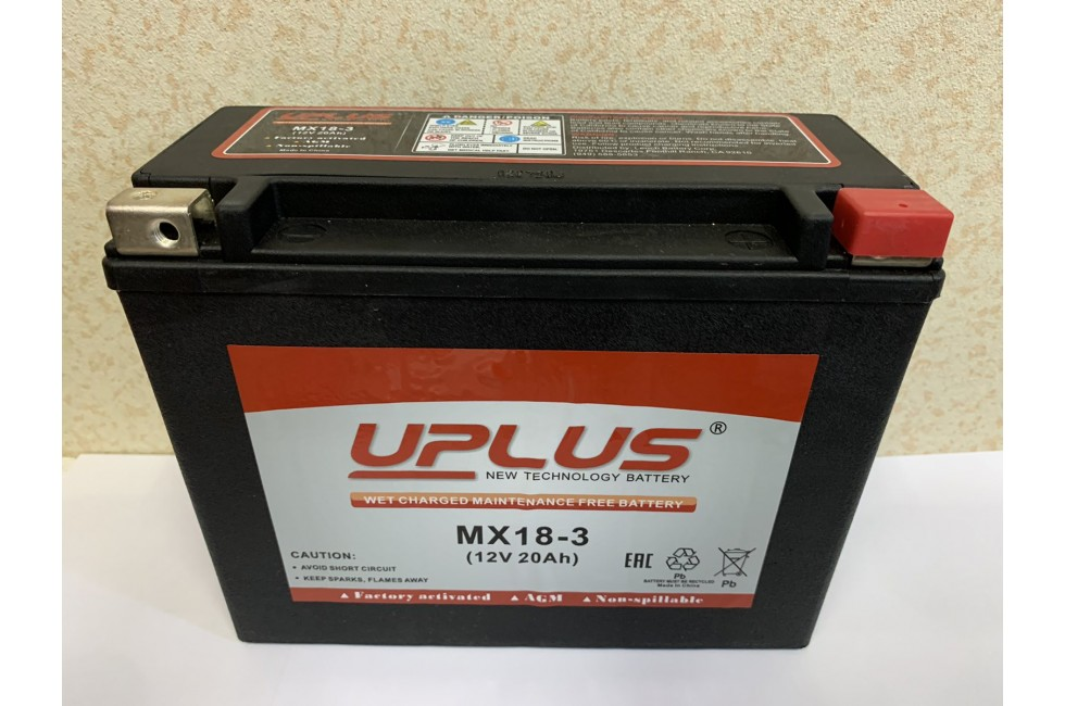 Аккумулятор UPLUS Super Star MX 18-3 12 V 20Ah R+