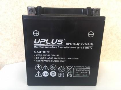 Аккумулятор UPLUS Super Star GEL HPG16-4 (YTX16BS 514901) (12 V 14 Ah L+)
