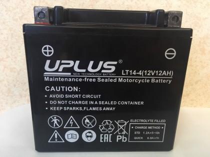 Аккумулятор UPLUS Super Star LT14-4 (YTX 14-BS 512014) ( 12 V 12 Ah L+)