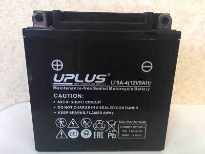 Аккумулятор UPLUS Super Star LT9A-4 (YB9-B 506014) (9 Ah L+)