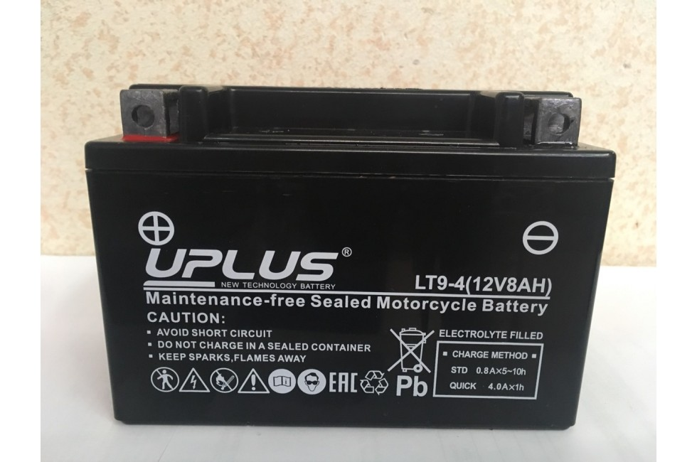 Аккумулятор UPLUS Super Start LT9-4 (YTX 9- BS 508012) 8 Ач L+