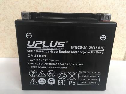 Аккумулятор UPLUS Nano Gel HPG20-3 (YTX20L-BS 518901) 18 Ач R+