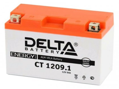 Аккумулятор Delta CT1209.1 (YT9B-BS)