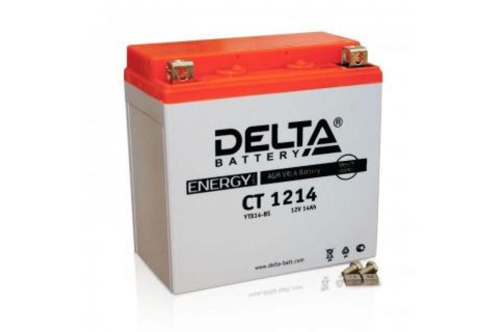 Аккумулятор Delta CT1214 (YTX14-BS, YTX14H-BS, YTX16-BS, YB16B-A)