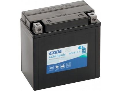 Аккумулятор Exide AGM12-9 (9 A/h), 120А L+
