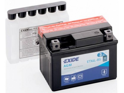 Аккумулятор Exide ETX4L-BS (3 A/h), 50А R+