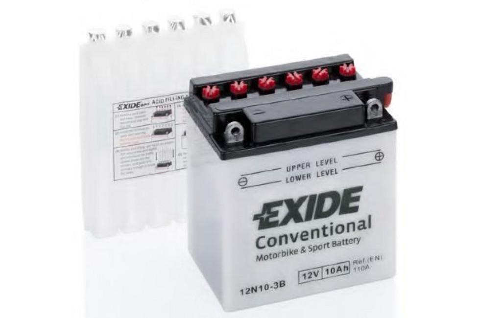 Аккумулятор EXIDE 12N10-3B (10 A/h), 110А