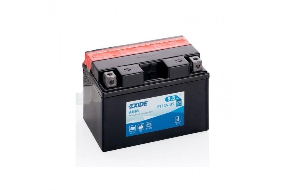 Аккумулятор Exide YT12A-BS (9,5 A/h), 130А L+