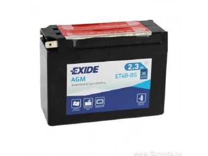 Аккумулятор Exide ETR4A-BS (2,3 A/h), 35А R+
