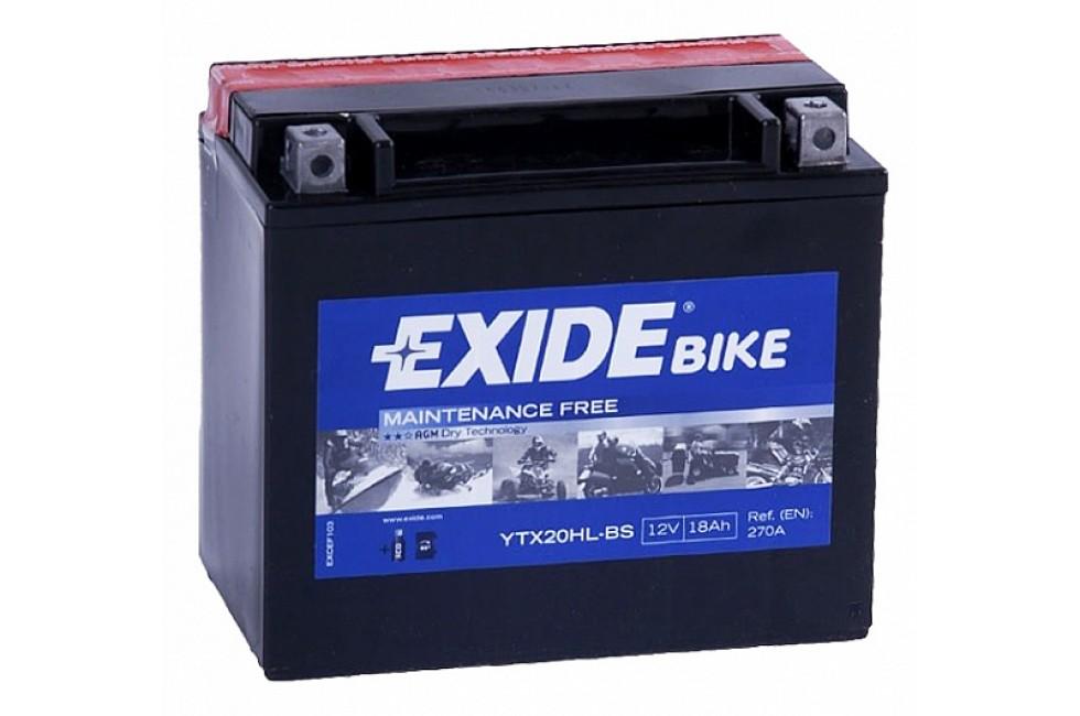 Аккумулятор Exide ETX20HL-BS (18 A/h), 270А R+