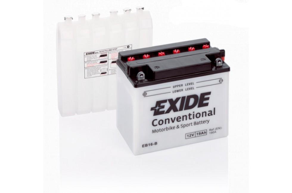 Аккумулятор Exide EB16-B (19 A/h), 190А R+