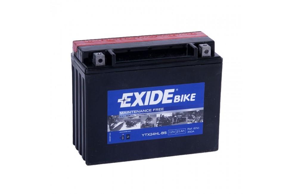 Аккумулятор Exide YTX24HL-BS (21 A/h), 350А L+