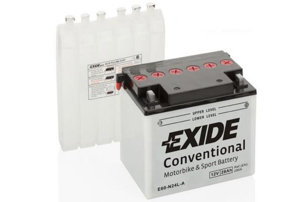 Аккумулятор Exide E60-N24L-A (28 A/h), 280А R+