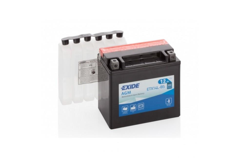Аккумулятор Exide ET14L-BS (12 A/h), 200А R+