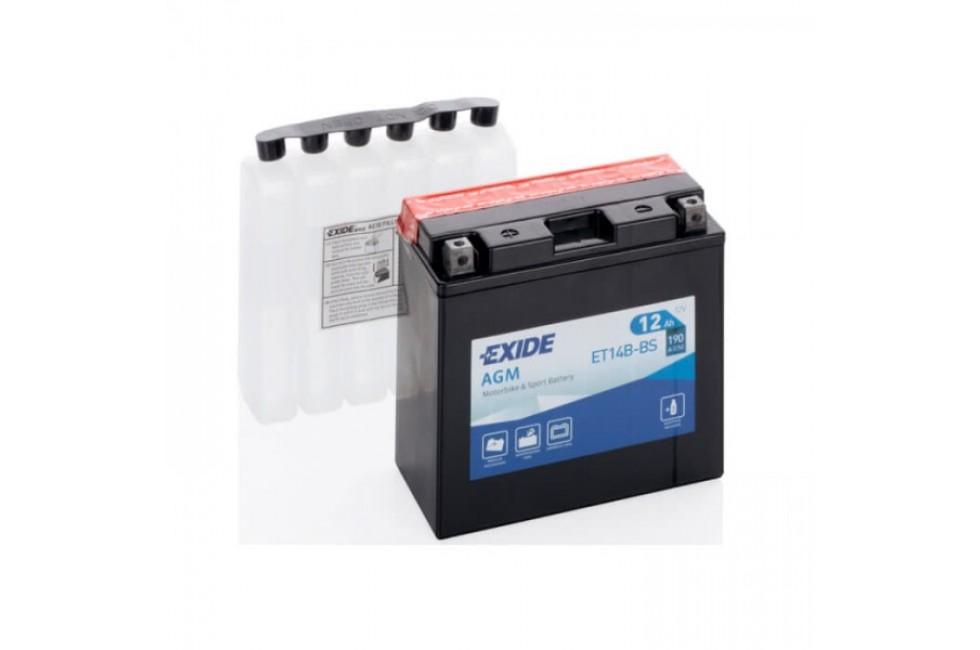 Аккумулятор Exide ET14B-BS (12 A/h), 140А R+