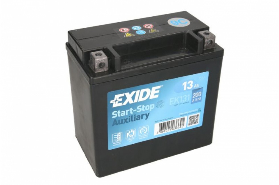 Аккумулятор Exide AGM Start-stop EK131 (13 A/h), 200А L+