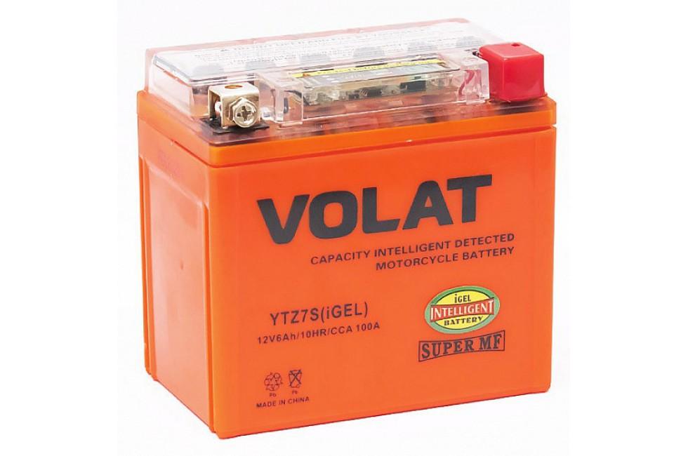 Аккумулятор VOLAT YTZ7S-BS (MF) iGEL 6 A/h 100A R+